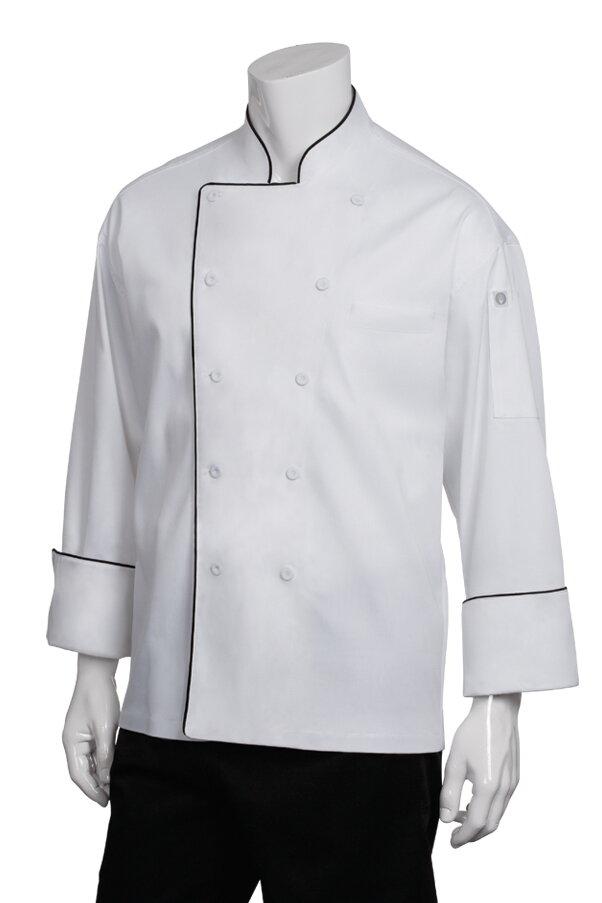 Chef Works Mens Sicily Executive Chef Coat TRCC-P